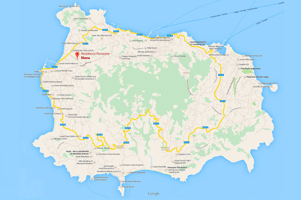 Mappa Ischia - Residence Pensione Mena